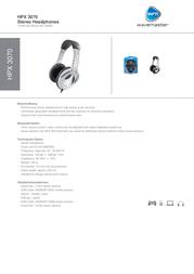 Wavemaster HPX 3070 HPX-3070BK Leaflet