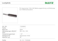 Leitz Accessories 17230000 Data Sheet