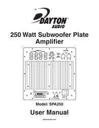 Dayton Audio SPA250 User Manual