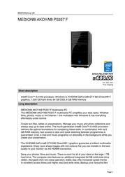 Medion AKOYA P5357 F 310017975 User Manual