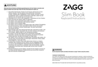 Zagg KEYFOLIO BOOK SLIM IPAD AIR 2 SW ID6ZF2-BBG Data Sheet