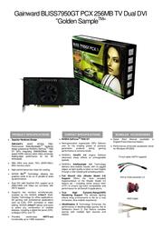 Gainward BP7950GT-256-GS-TV-DD 471846200-8187 Leaflet