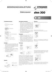 Steinner SHM 300 User Manual