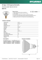 Sylvania 0021141 Leaflet