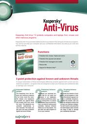 Kaspersky Lab Kaspersky® Anti-Virus 7.0, CROM, Box, NL KL1125NLBOX Leaflet
