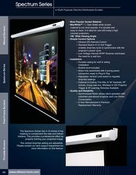 Elite Screens Electric84V ELECTRIC84V Leaflet