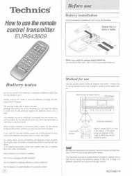 Technics EUR643809 User Manual