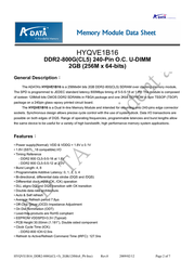 ADATA Extreme Edition DDR2 800G 4GB-kit AD2800G002GOU2 User Manual