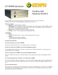 Glyph gt060br-1500 Information Guide