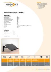 ErgoXS Notebook Arm Large NOT1001 Leaflet