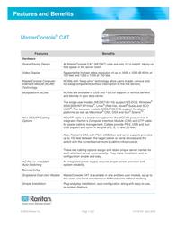 Raritan MCCAT116 MCCAT116-PAC Leaflet