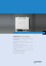 Lancom Systems OAP-54 Wireless Outdoor Access Point LS61507 User Manual