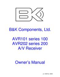 B&K AVR101 Series 100 User Manual