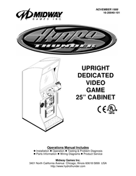 "Midway UPRIGHT DEDICATED VIDEO GAME 25"" CABINE 16-20040-101 User Manual"