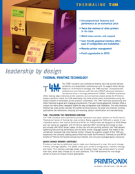 Printronix T4M TT4M2-0102-30 Leaflet