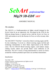 Sebart ARF 920 mm 65000000 Data Sheet