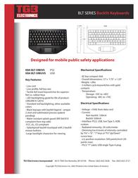 TG3 Electronics KBA-BLT-5RBUVS Leaflet