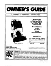 MTD Yard-Man 203b User Manual