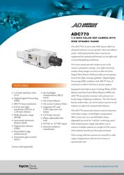 American Dynamics Tyco ADC770 Leaflet