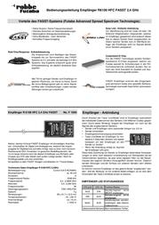 Futaba R-6106 HFC F1000 Data Sheet