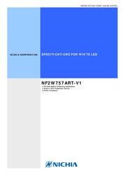 Nichia SMD LED non-standard White 36300 mcd 120 ° 150 mA 6.3 V NF2W757ART-V1 데이터 시트