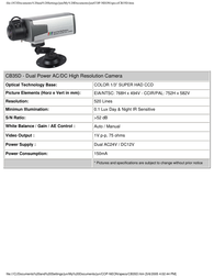 COP-USA cb35d Specification Guide