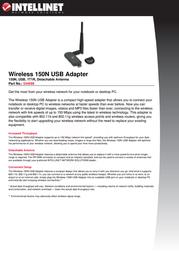 Intellinet Wireless 150N USB Adapter 524698 User Manual