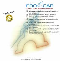 Procar Safety Universal Plug (angled) 67747501 User Manual