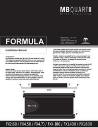 MB Quart FX4.100 Справочник Пользователя