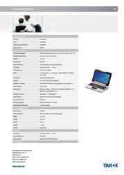 Tarox 0906086 User Manual