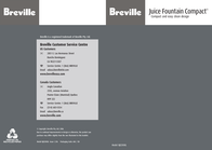 Breville BJE200XL User Manual
