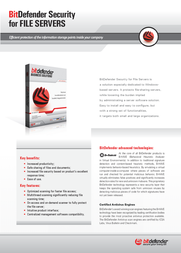 Bitdefender Security for File Servers, 250-499 users, 3 Years 202012E Leaflet