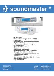 Soundmaster UR-2010 UR-2010W Leaflet