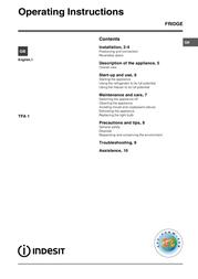Indesit TFA 1 TFA1 User Manual