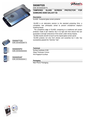 Phonix S9300TGS Leaflet