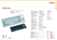 Cherry KEYBOARD PS2 SWISS MX-GOLD WITH TRACKBALL G84-4400 PPBCH Leaflet