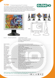 "Edge 17"" Multimedia Toughened Glass TFT LCD Monitor T170H T170H Leaflet"