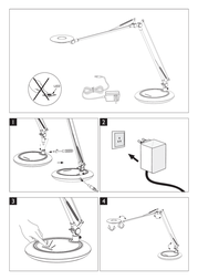 Honsel LED table lamp 6 W Cold white Wiki 97131 Silver 97131 Leaflet