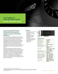 NDS Surgical Imaging NVIDIA Quadro K4000 3GB 999-2364-00-1HU Leaflet