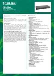 OvisLink FSH24W Leaflet
