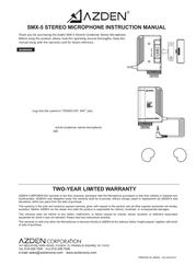 Azden SMX5 Leaflet