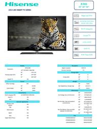 Hisense 32K366W LTDN32K366WCEU Leaflet