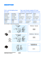 Mentor Test socket Socket, horizontal mount 1823.2235 1 pc(s) 1823.2235 Data Sheet