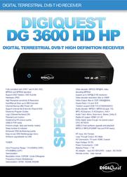 Digiquest DG 3600 HD DG3600HD Leaflet