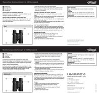 Walther Backpack 8 x 42 Binoculars 5.9009 Leaflet