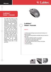 Labtec Corded laser mouse 931733-0914 Leaflet
