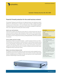 Symantec Gateway Security 360 10237583-MN Leaflet