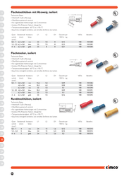 Cimco Blade terminal Connector width: 4.8 mm Connector thickness: 0.8 mm 180 ° Partially insulated Red 180288 1 pc(s) 180288 Data Sheet