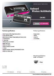 Canyon Keyboard PS/2 United States Black/Silver, Retail, 1pk CN-RF2-US Leaflet