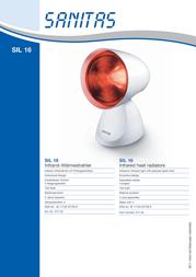 Sanitas SIL 16 617.35 Data Sheet